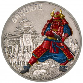 1 oz  Silver Samurai Warrior of History PP 2016