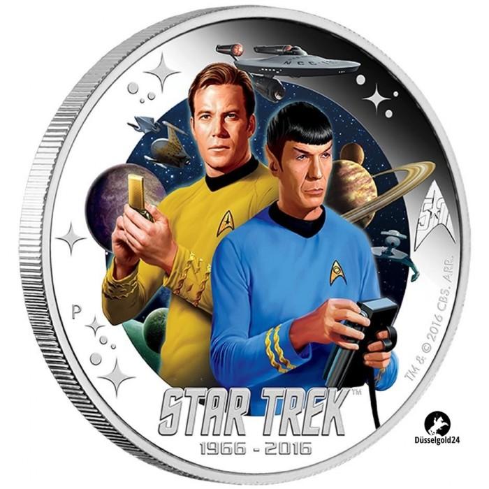 1 Unze Silber Silbermünze Star Trek Mr Spock Perth Mint Tuvalu