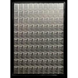 100 x 1 Gramm  g Silber Münztafel Cook Islands