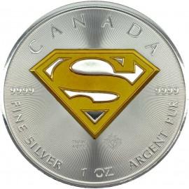 1 Unze Silber Superman TM 2016 Gilded Teilvergoldet