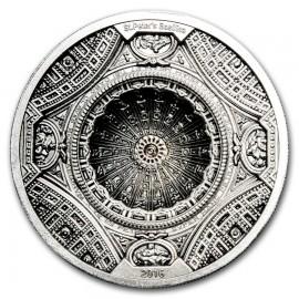 100 Gramm Silber St Peters Basilica 20 Dollar Cook Island 2016