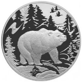 1 Unze Silber 3 Rubel  Bär  2009 PP