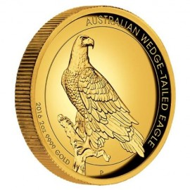 2 oz Gold Wedge-Tailed Eagle High Relief PP mit Box