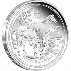 1 kg Silber Lunar II Pferd 2014