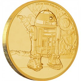 1/4 oz R2D2 Star Wars  PP  Gold 2016