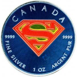 1 Unze Silber Superman TM 2016 farbig coloriert