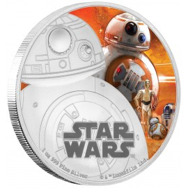 1 Unze oz Silber BB-8 Star Wars Niue Box PP