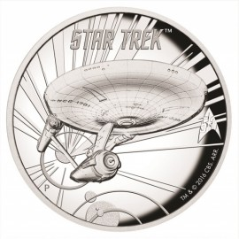 1 Unze Silber Star Trek U. S. S. Enterprise High Relief Tuvalu
