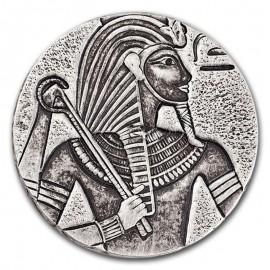 5 Unzen Silber Tschad King Tut 2016 3000 Fr