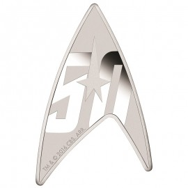 1 Unze Silber 50 Jahre  Star Trek  Delta U. S. S. Enterprise High Relief Tuvalu
