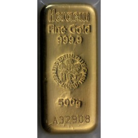 500g Gold bar Heraeus