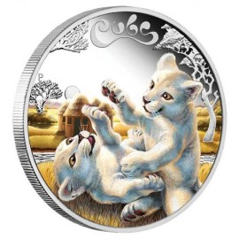 1/2 Unze Silber Baby White Lion  Perth Mint PP