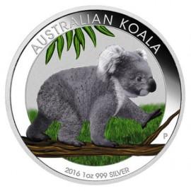 1 oz Silver  Koala 2016 colored