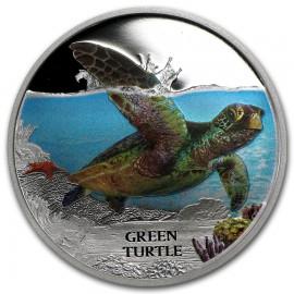 1 oz Green Turtle Silver 2015
