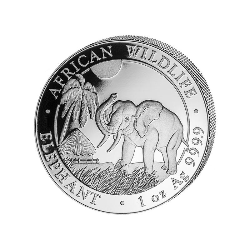 1 oz Silver Somalia Elefant 2017
