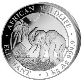 1 Kilo Silber Somalia Elefant 2017