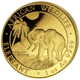 1 oz Somalia Elefant Gold 2017