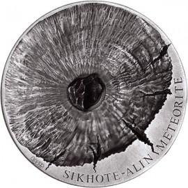5 Unzen Silber Tchad Sikhote-Alin Meteorit 2016 5000 CFA