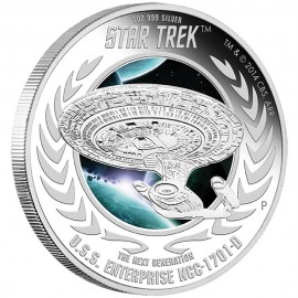 1 oz silver Star Trek 2015