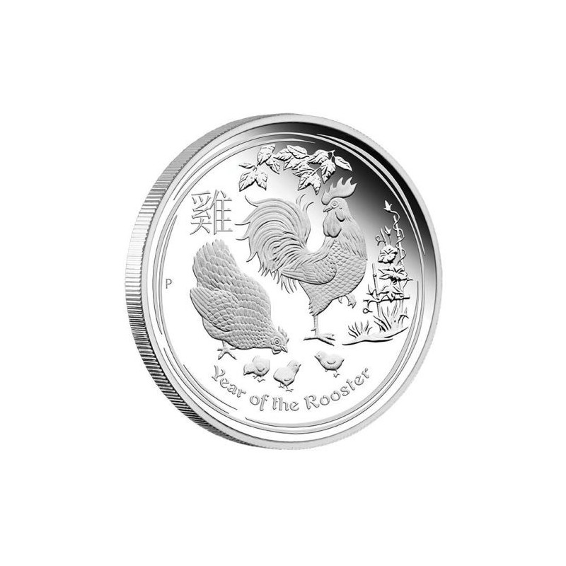 1 Kg Silber Hahn Lunar II 2017 PP Box