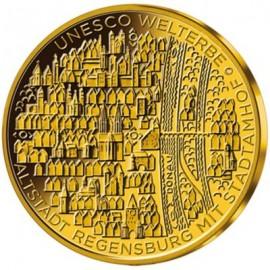1/2 Unze Altstadt von Regensburg Gold 2016 Unesco Weltkulturerbe
