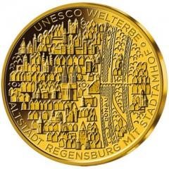 1 2 oz gold 100 euro regensburg unesco d sselgold24. Black Bedroom Furniture Sets. Home Design Ideas