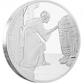1 Unze Silber Prinzessin Leia Star Wars Niue
