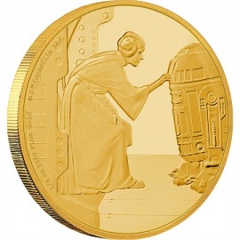 1/4 oz Prinzessin Leia Star Wars  PP  Gold 2016