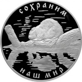 5 Unzen Silber 25 Rubel Russland 2008