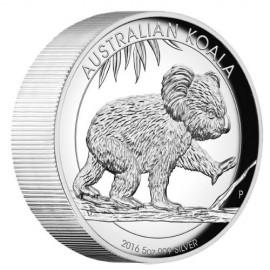 5 Unzen  Silber Australien Koala 2016 High Relief