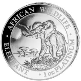 1 OZ Platin Somalia Elefant Proof 2016