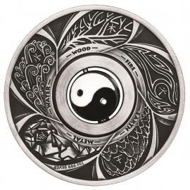 1 Unze Silber Yin Yang Antique Finish Tuvalu