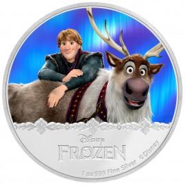 1 Unze Silber Frozen Kristoff + Sven Disney Niue