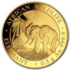0,5 g Gramm  Somalia Elefant Gold 2017 PP