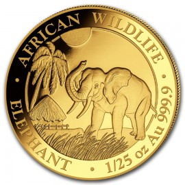 1/25 oz Somalia Elefant Gold 2017