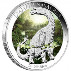 1 oz Dimantinasaurus silver 2015