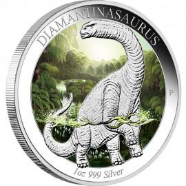 1 Unze Silber Diamantinasaurus