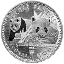 1/8 oz Silber Berliner Coin Panda 2016