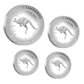1 Unze Silber Känguru  Nugget 2016 Kangaroo PP 4er Set