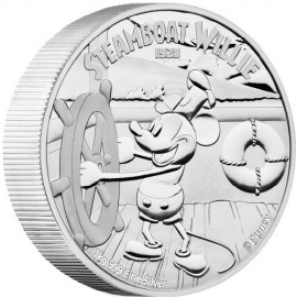 1 kg Kilo Silber Disney Steamboat Willie PP 2015