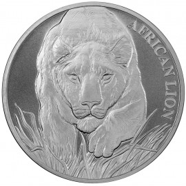 1 oz Silver  African Lion Tschad 2017