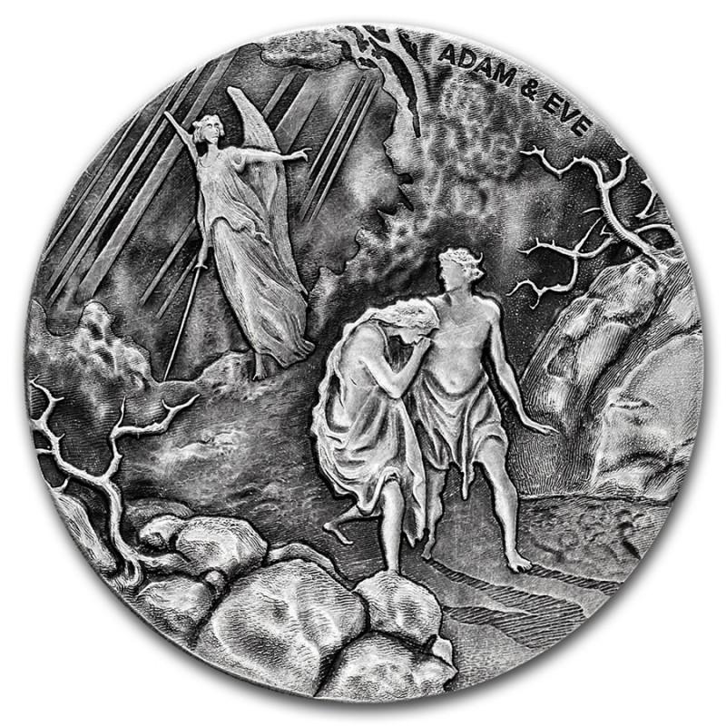 2 Unzen Silber Adam und Eva  Bibel Serie Niue