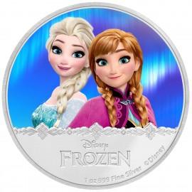 1 Unze Silber Frozen Elsa + Anna Disney Niue