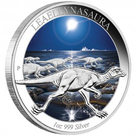 1 oz silver Leaellynasaura