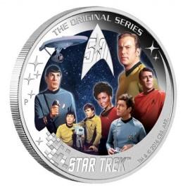 2 Unze Silber uvalu - 1 $ 2016 - U.S.S. Enterprise NCC-1701 Crew - 2 Oz. Silber PP Farbig