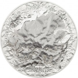 5 unzen  oz Silber $25 7 Summits Denali Proof 2016 Cook Islands