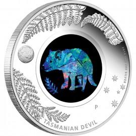 1 oz silver Opal Series Tasman devil