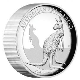 5 Unzen Silber Känguru PP 2016 High Relief