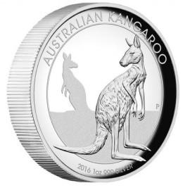 1 Unze Silber Känguru PP 2016 High Relief