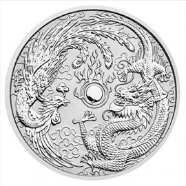 1 Unze Silber Dragon + Phoenix Perth Mint 2017